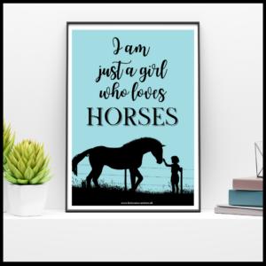 A3 plakater m. heste