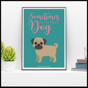 A4 plakater m. hunde